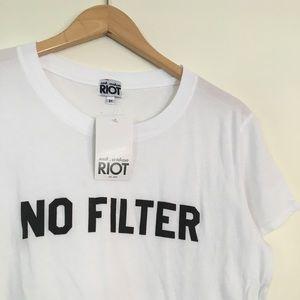 """""""No Filter"""" NWT Basic White Tee"""